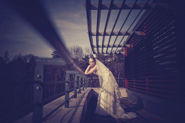 Bride on the roof by Gergely Csigo on 500px