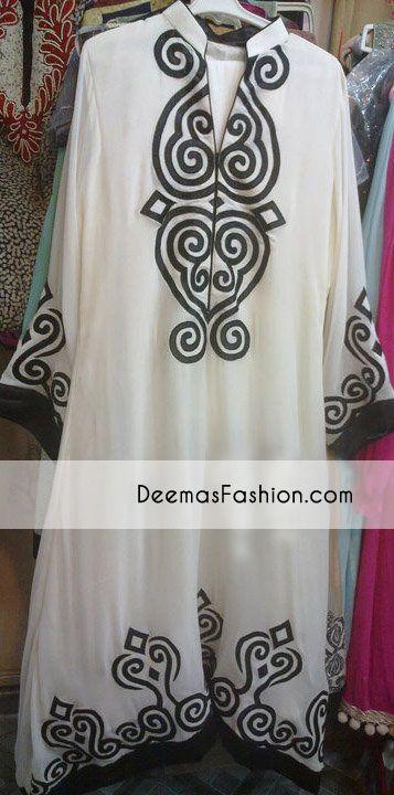 Latest Fashion Clothes Black White Designers Casual Dress | Latest Pakistani Fashion Bridal Mehndi Wear Formal Dresses Casual Clothing 2011