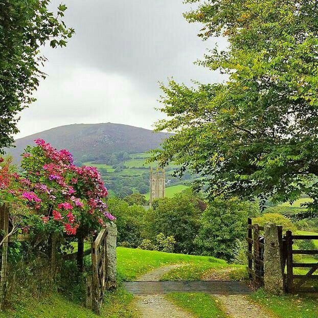 Pretty countryside in England, I'd say:)