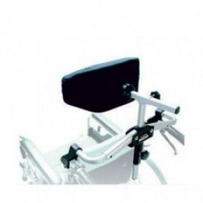 Мягкий подголовник лунообразной формы в комплекте с деталями для крепления к инвалидной коляске.