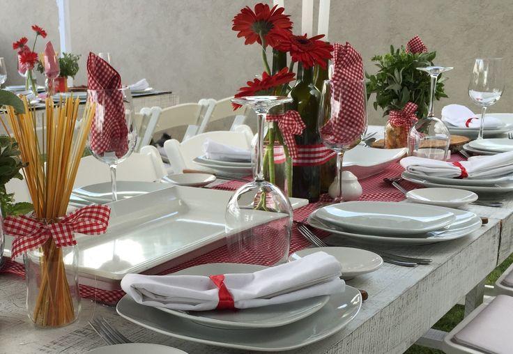 italian party, pasta, table decor, fiesta organizada por M.E. Catering by Mauricio Eggleton