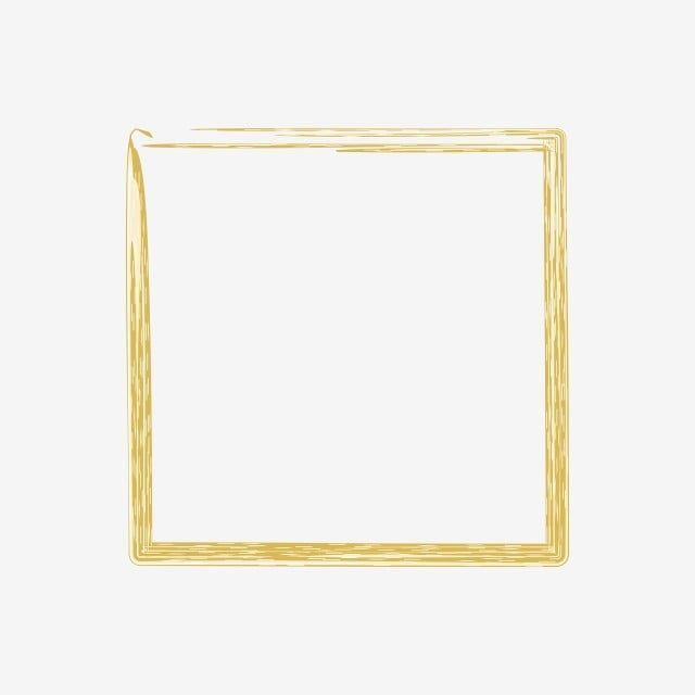 Yellow Abstract Brush Square Frame Border Yellow Background Picture Frame Png Transparent Image And Clipart For Free Download Instagram Square Square Frames Clip Art