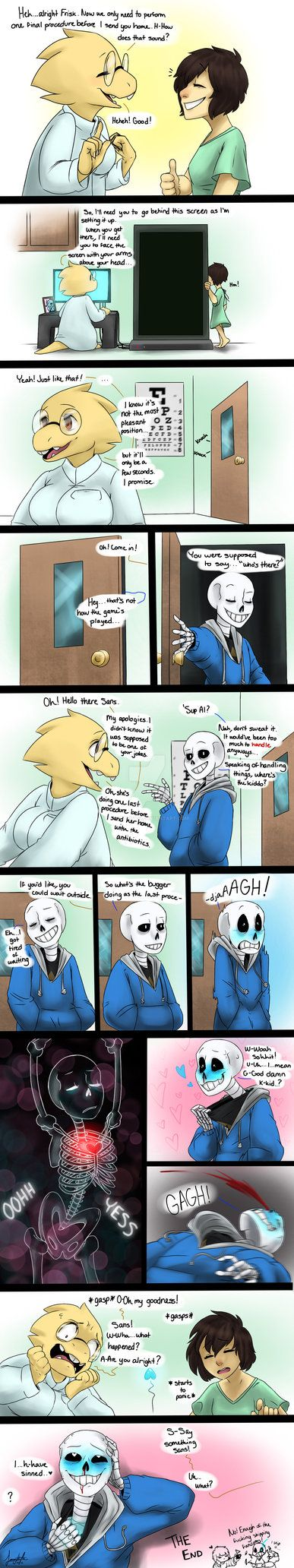 Doctor's Check Up: Undertale by Animorphs1 <<< I don't ship it but I like this comic!