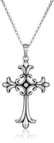 "Fashion Bug Sterling Silver Celtic Cross Pendant Necklace, 18"" www.fashionbug.us #PlusSize #FashionBug"