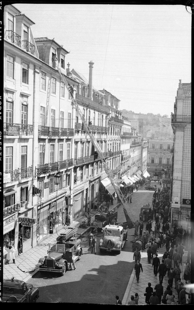 Inçêndio, Chiado, Lisboa, 1954