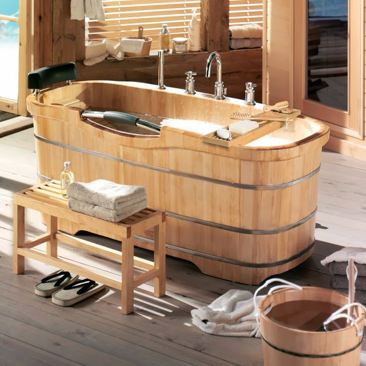 17 best images about baignoires en bois on pinterest soaking tubs gardens and home. Black Bedroom Furniture Sets. Home Design Ideas
