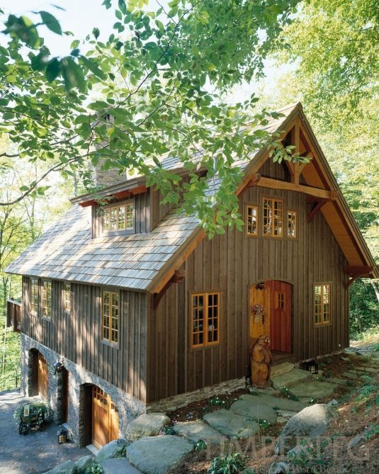 Best 25 post and beam ideas on pinterest cabin floor for Small timber frame cottage