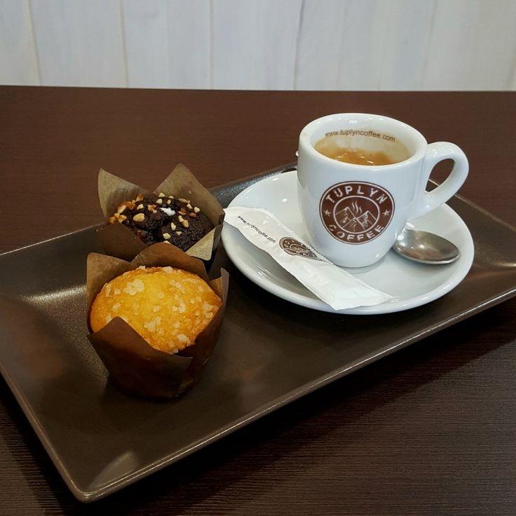 Desayuno sencillo y modesto  en #tuplyncoffee. www.tuplyncoffee.com