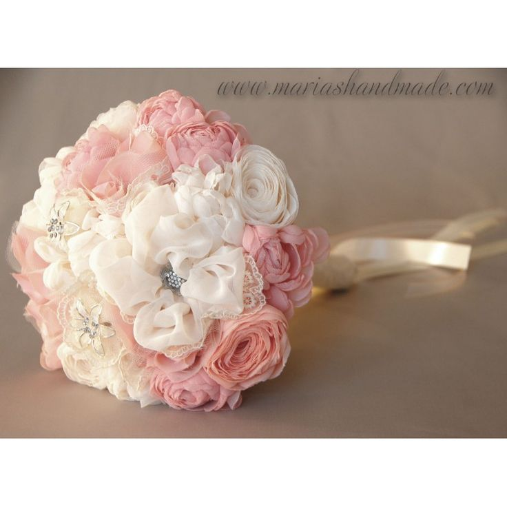 Fabric bridal bouquet by M.aria's Handmade fabric bridal bouquets