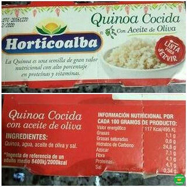 💁🏼QUINOA COCIDA CON ACEITE DE OLIVA.  .  📝Supermercado: @elcorteingles, @hipercor.  💵P.V.P: 1,75 euros.  .  📸 @srta.morenob.  .  #lacestadefranitaelcorteingles #lacestadefranitahipercor #healthyfranita #follow #followme #like4like #supermercado #basicos #quinoa