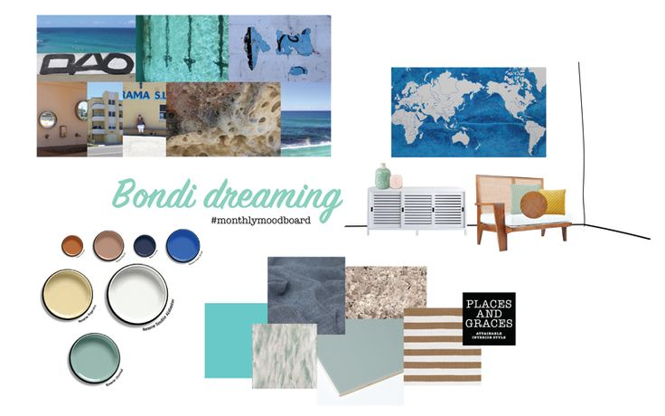 Places & Graces : Bondi Dreaming : our interior styling #moodboardofthemonth