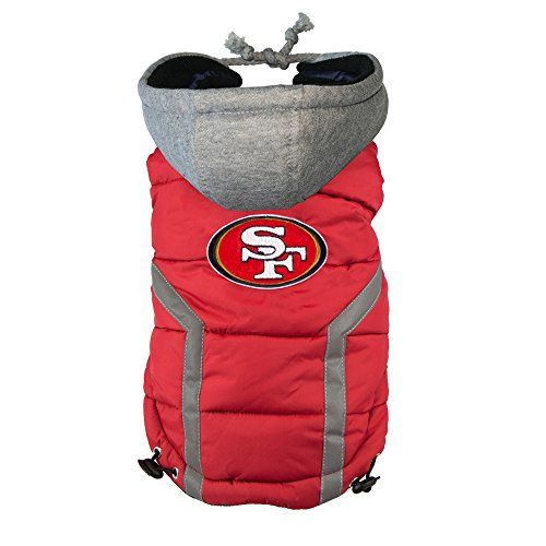 NFL San Francisco 49ers Dog Puffer Vest, Medium >>> See this great product.