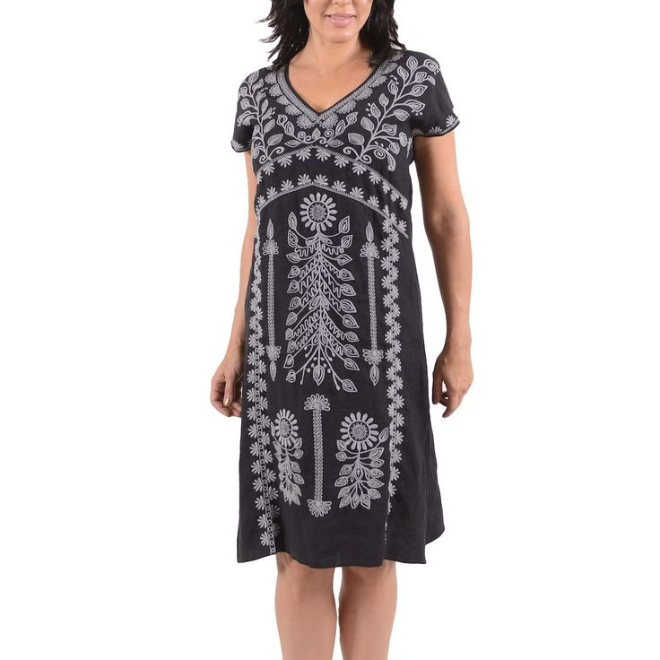 JOLINA embroidered Dress By Johnny Was LA
