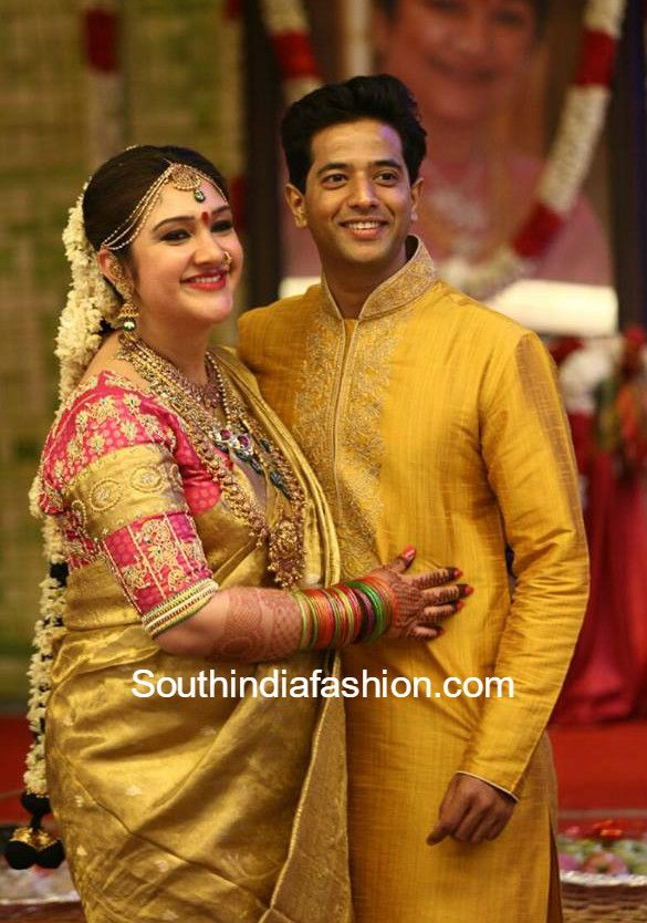 She Looked Stunning In A Gold Kanjeevaram Saree And Traditional Jewellery