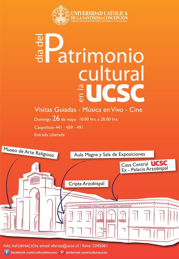Día del Patrimonio Cultural en la Universidad Católica de la Santísima Concepción. Domingo 26 de mayo