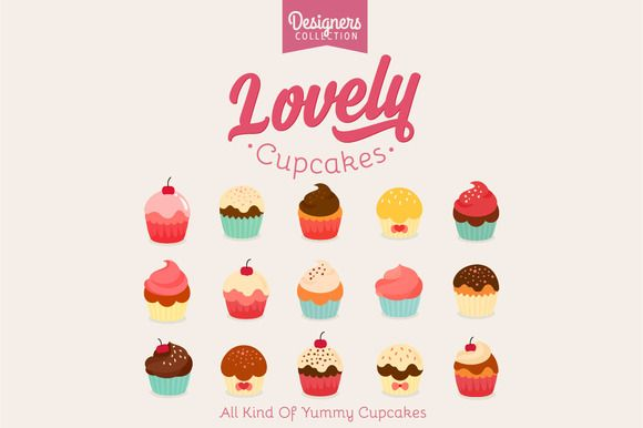 15 Yummy Cupcake icon by VectorBakery on @creativemarket