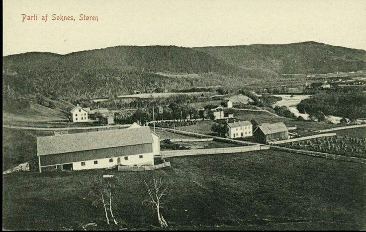 Sør-Trøndelag fylke Midtre Gaudal kommune STØREN, SOKNES, oversikt med gårder Utg Larsen-Normann