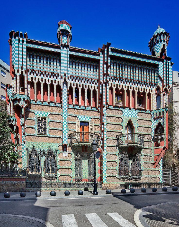 Casa vicens barcelona spain antoni gaudi ciudades de spain pinterest spain antoni - Casa vives gaudi ...