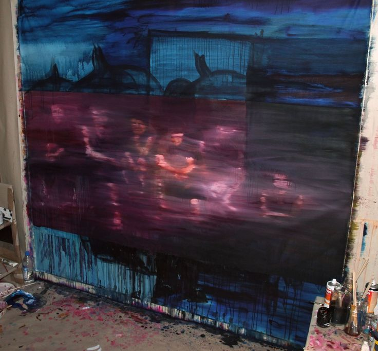 Garden, 2013. Oil and acrylic on canvas.