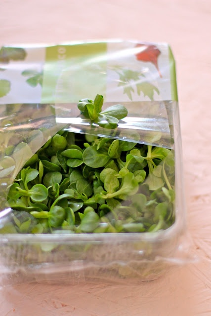 """Mache or corn salad or lamb's lettuce - add a kick of strawberry to your salad and it's """"mache"""" magic. :)"""