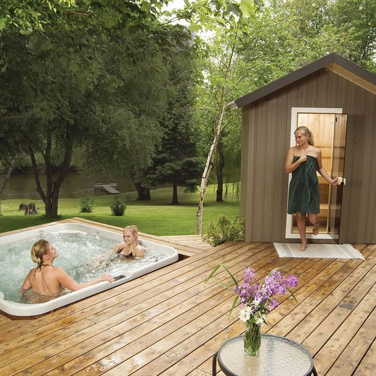 Finnleo Traditional Outdoor Saunas Patio Series With Images Outdoor Sauna Hot Tubs Saunas Hot Tub