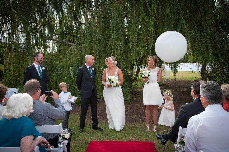 Pretty ceremony:) Weddings at Stillwater at Crittenden, Mornington Peninsula www.stillwateratcrittenden.com.au
