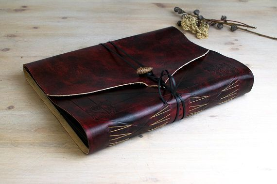 Burgundy photo album & guestbook