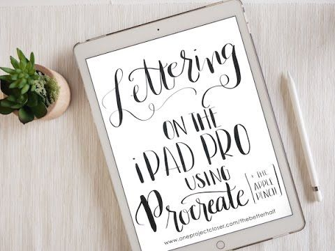 One Project Closer walks you through setting up your iPad Pro to use with Apple Pencil and introduces Hand Lettering with Procreate! More info and tips at: h...