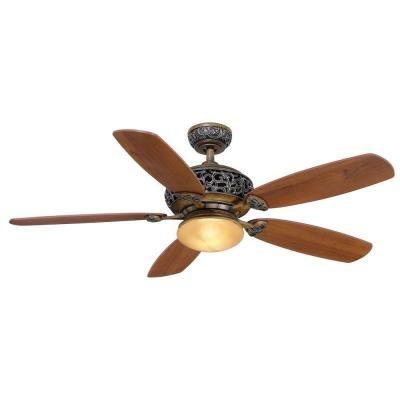 Hampton Bay Caffe Patina 52 in. Indoor Ceiling Fan $179.13