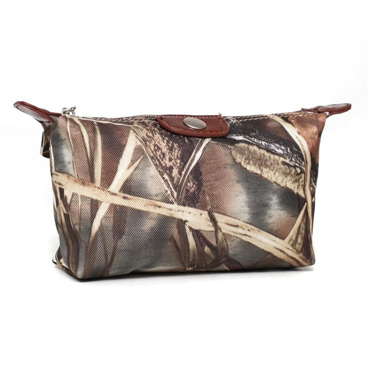 western style makeup cases | BROWN REAL TREE CAMO WESTERN COWGIRL MAKEUP COSMETIC BAG CASE