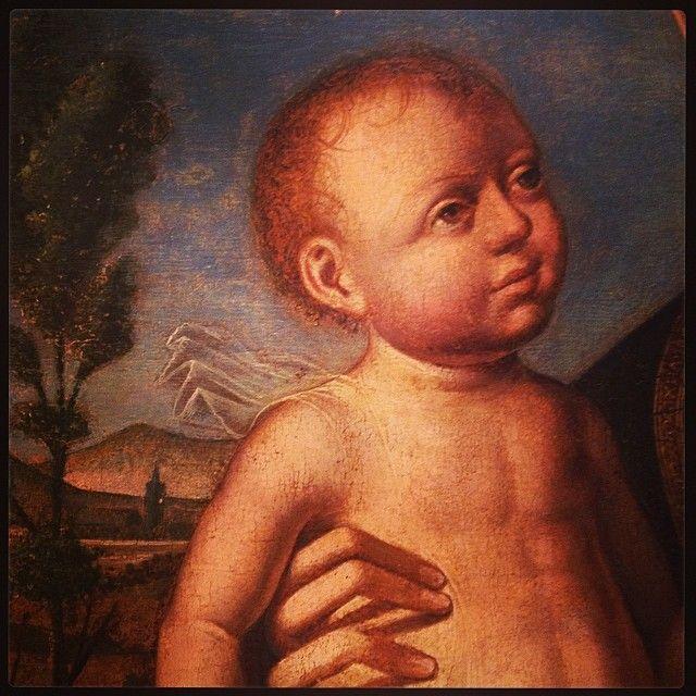 """Museo regionale Maria Accascina a Messina,dettaglio di """"Madonna col bambino"""" di Antonello de Saliba #invasionidigitali #siciliainvasa2014 #museoaccascina"""