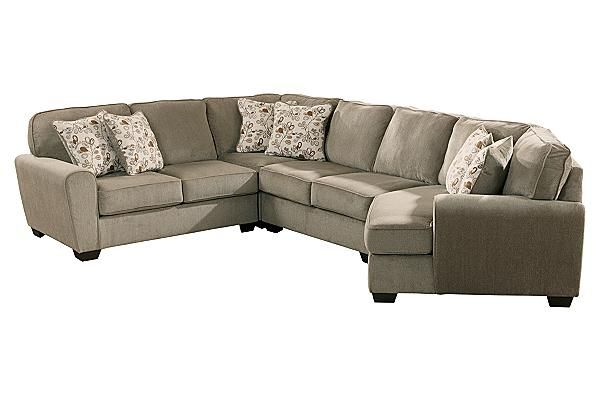 "The Patola Park - Patina Sectional from Ashley Furniture HomeStore (AFHS.com). With a stylish contemporary design and numerous modular pieces to create unlimited set-up options to fit within any living area, the ""Patola Park-Patina"" upholstery collection offers soft upholstery fabric surrounding plush supportive cushions to give you comfort as well eye-catching beauty."