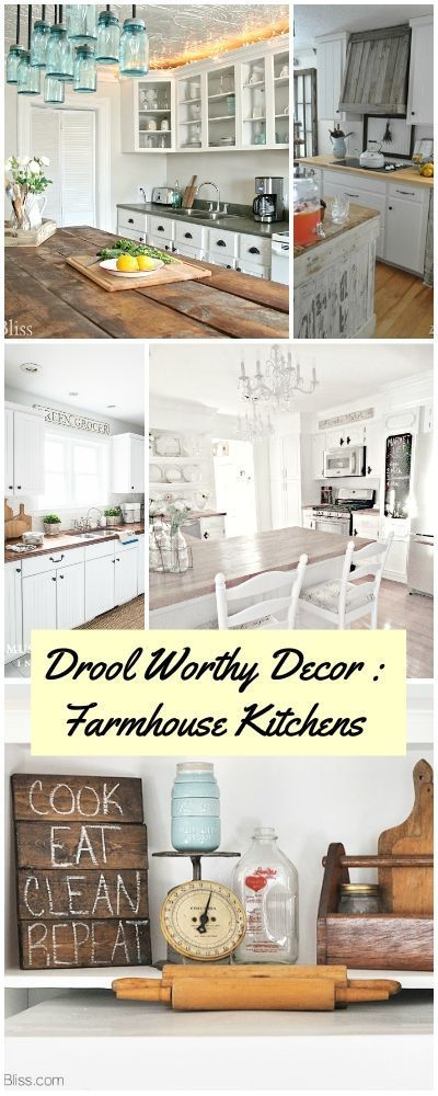 Drool Worthy Decor : Farmhouse Kitchens • Join us in our tour of some amazing bloggers' Farmhouse Kitchen makeovers and reveals!
