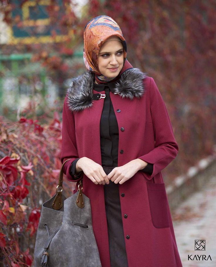 Sezonun öne çıkan rengi #Bordo 'ya #Kayra... - Kayra