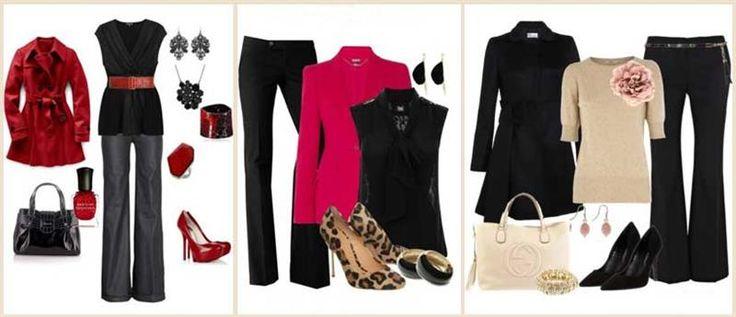 Одеть классические черные брюки и открытые босоножки