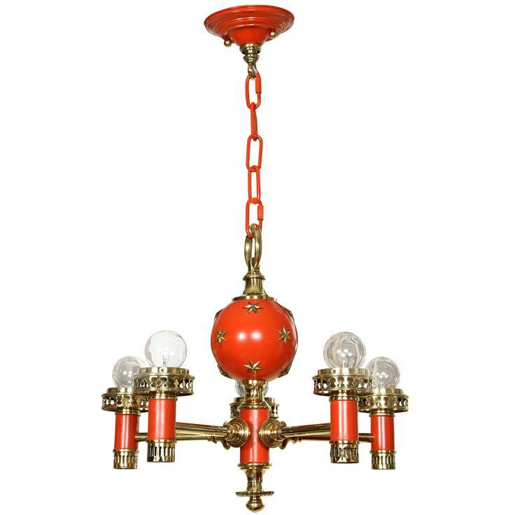 Orange Hanging Light Fixture
