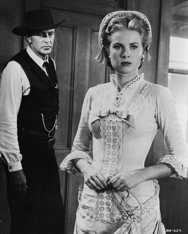 """A still from Grace's first substantial film role in """"High Noon."""" Interesting that she started and ended her movie career with films that began with the word 'High.'"""