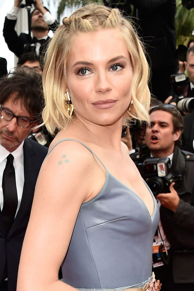 Look closely and you'll notice a few subtle layers snipped into actress Sienna Miller's cute, chin-length cut. Wear it straight, or add a few soft waves.   - ELLE.com