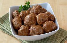 Healthy Swedish Meatball Recipe ~use gf breadcrumbs & make your own brown gravy