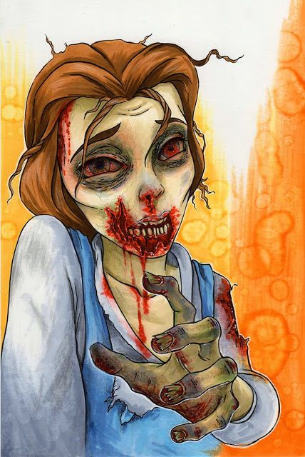 Zombie Disney Characters Drawings 154 best images about ...