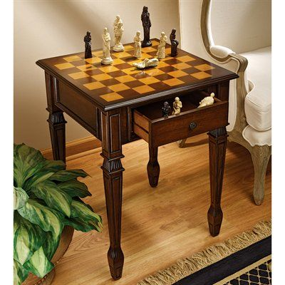 Basil Street Gallery DE302 Walpole Manor Chess Table