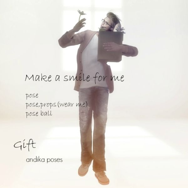 make a smile for me[st.v gift] *pose *props(wear me) *pose ball