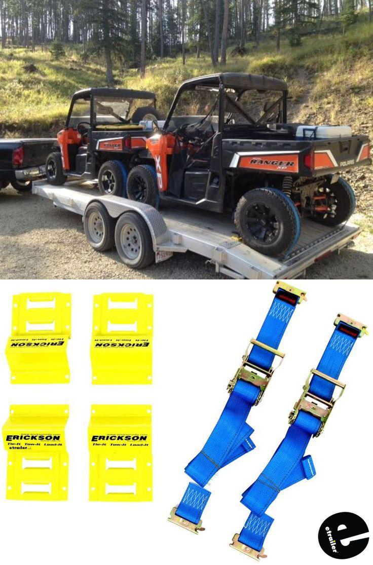 Erickson atv etrack tiedown kit w ratchet straps and