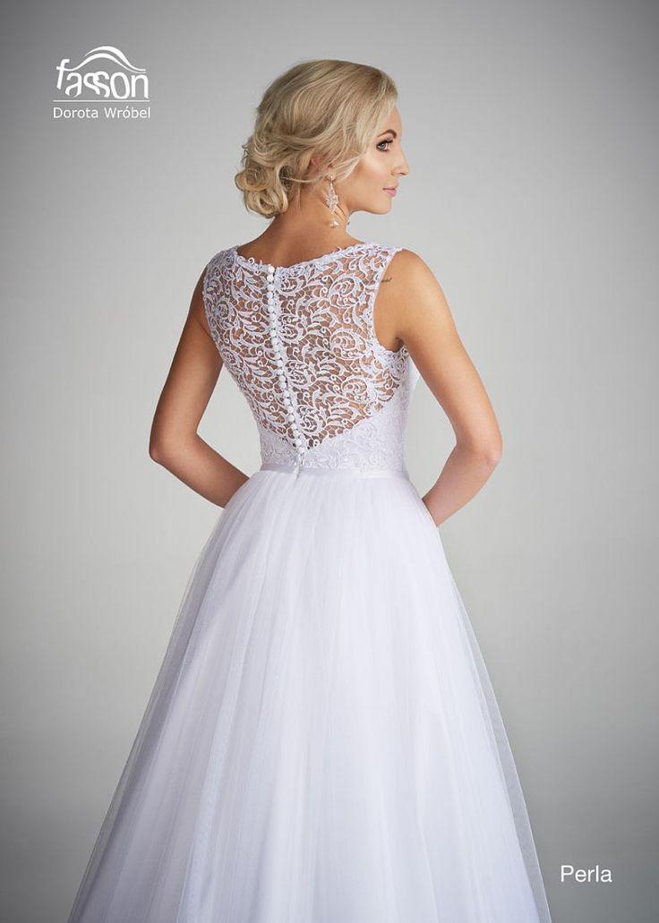 Perla tył suknia ślubna
