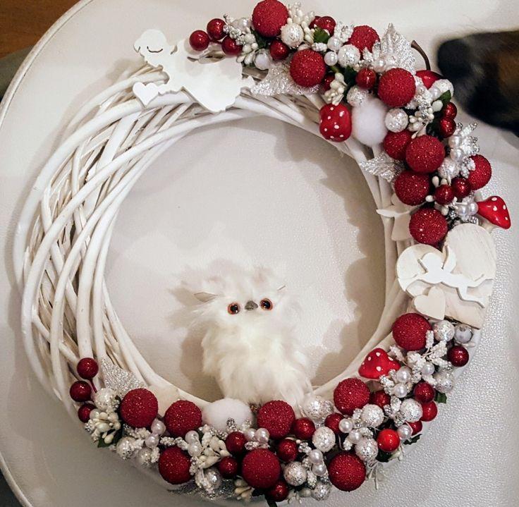 Christmas wreath  #owl #diy