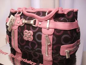 Pink Coach Handbag Cake!