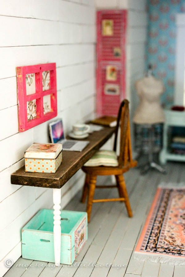 Dollhouse Office/Studio - Everything you need to know about where I found everything and how I did it.