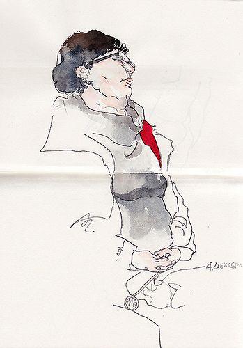 daily metro sketch - Sunga Park
