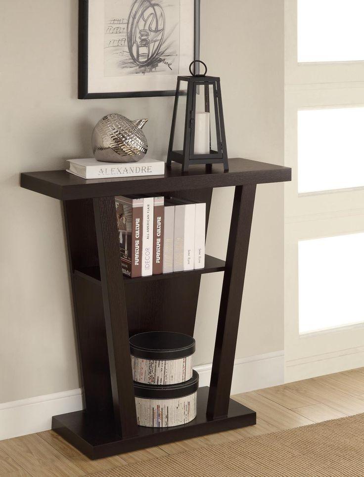 Amazon.com - Coaster Home Furnishings 950136 Contemporary Console Table, Cappuccino - Sofa Tables