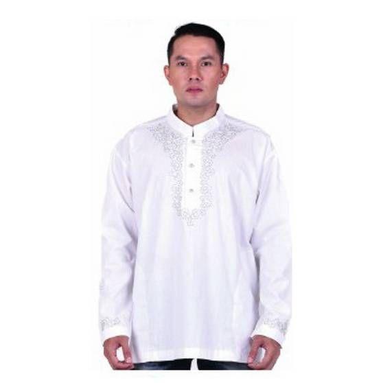 Baju koko terbaru warna putih – Model baju koko putih polos lengan panjang terbaru bahan katun keren. Trend harga jual koko putih katun murah grosir online.